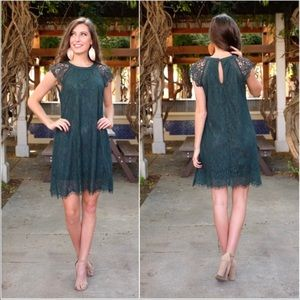 Gorgeous Green Lace Detailed Dress